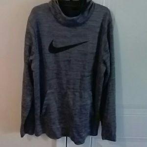 Grey/black: Nike pull-over hoodie